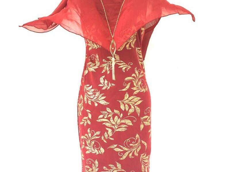 Vestido largo casual rojo