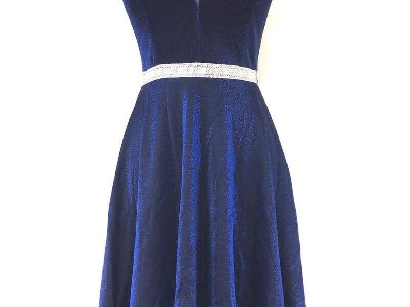 Vestido corto formal azul