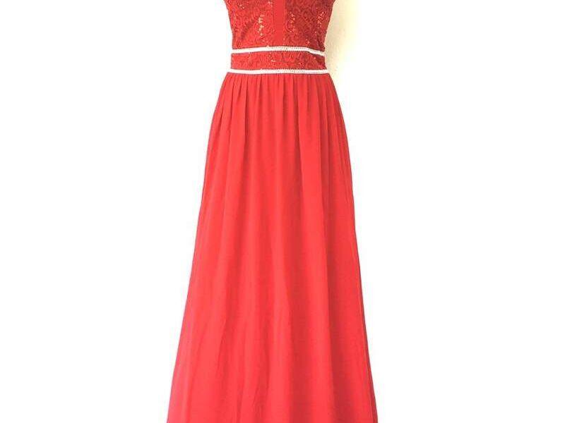 Vestido formal largo rojo