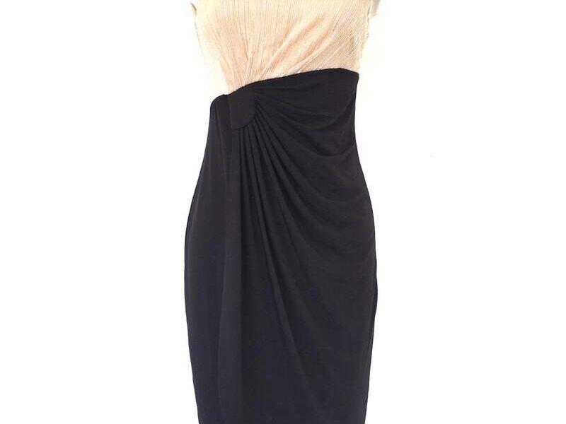 Vestido Largo formal compuesto dos colores