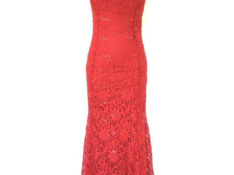 Vestido Largo Elegante Rojo