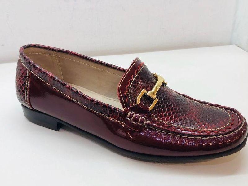 Zapato Casual De Piel Rojos