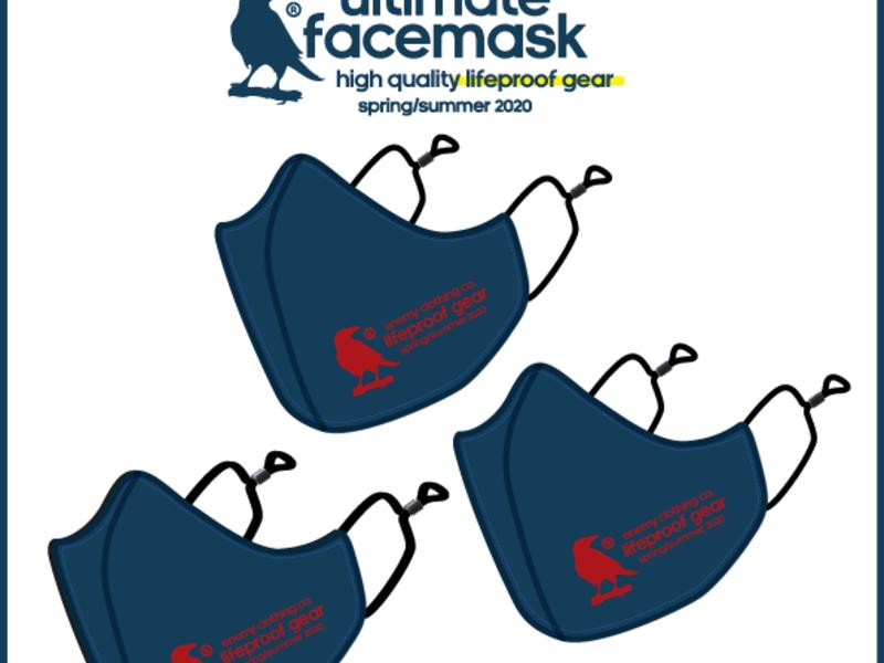 Enemy® Pack de tres mascarillas Red Label