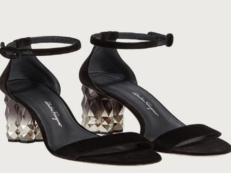 Sandalias refracted heel - Negro