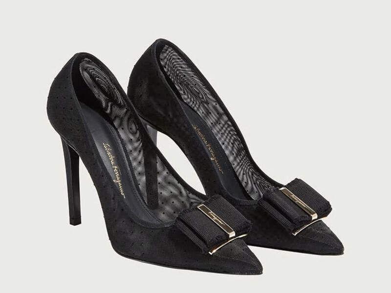Zapatos taco Negro