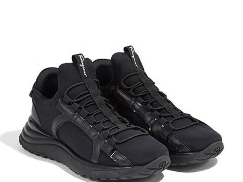 Sneakers Gancini Tela Negro