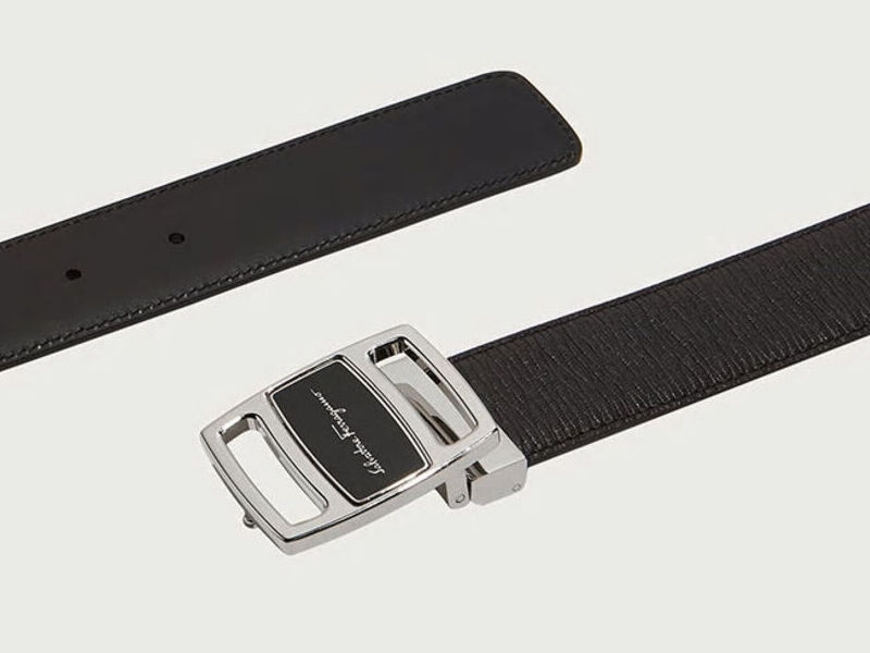 Cinturón ajustable y reversible - Negro