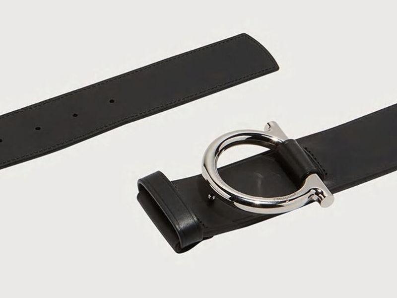 Cinturón Gancini a la Medida - Negro