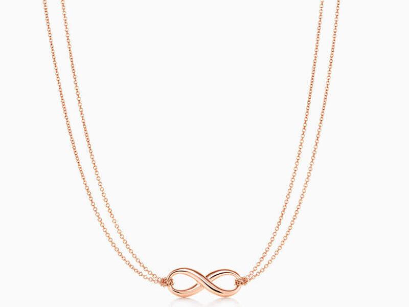 Collar Tiffany Infinity oro rosa 18k-16