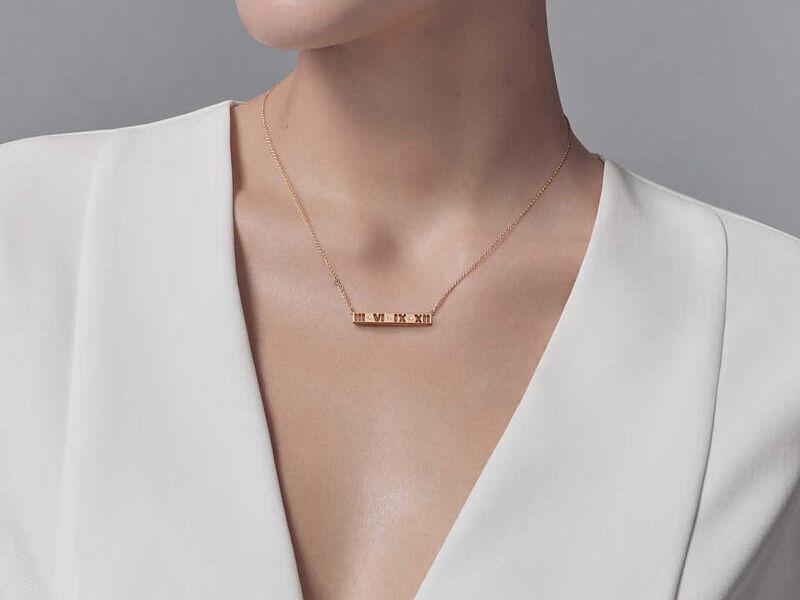 Collar Atlas Oro rosa 18k c/diamantes