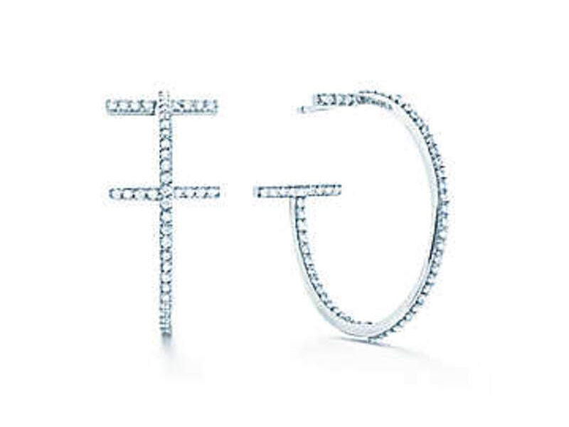 Aretes Tiffany T Oro blanco 18k c/diamantes - Tiffany&Co.   SARTORIAL