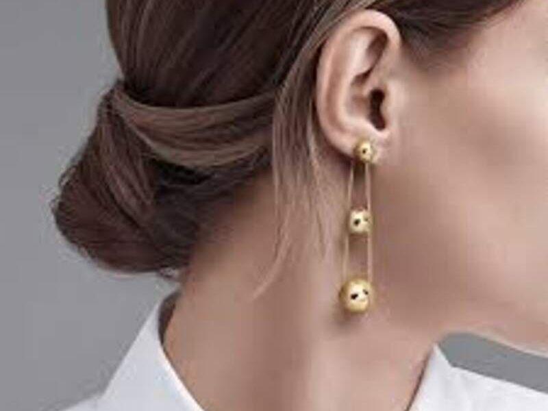 Aretes Tiffany HardWear Oro 18k Triple Drop