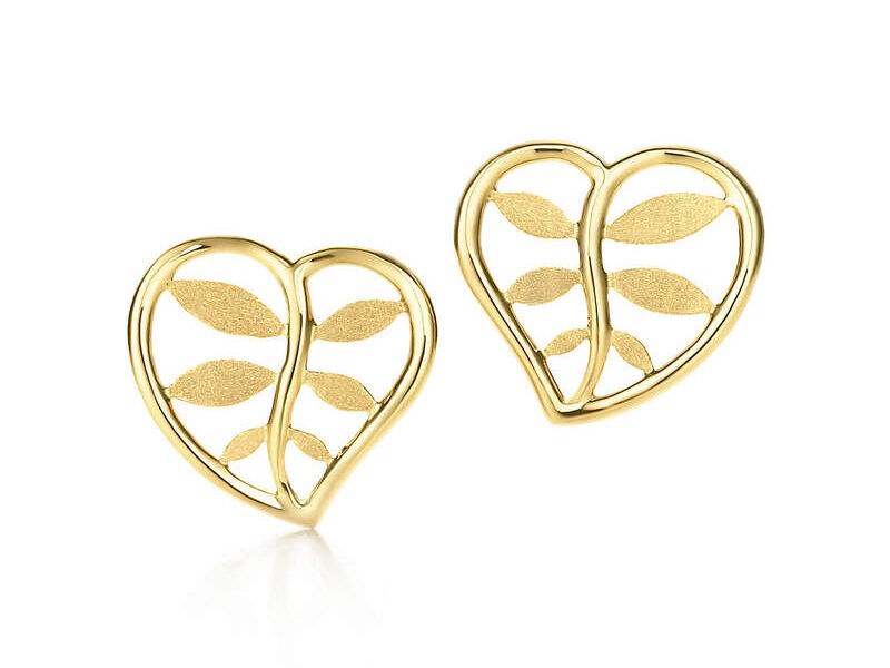 Aretes Paloma P Heart Oro 18k