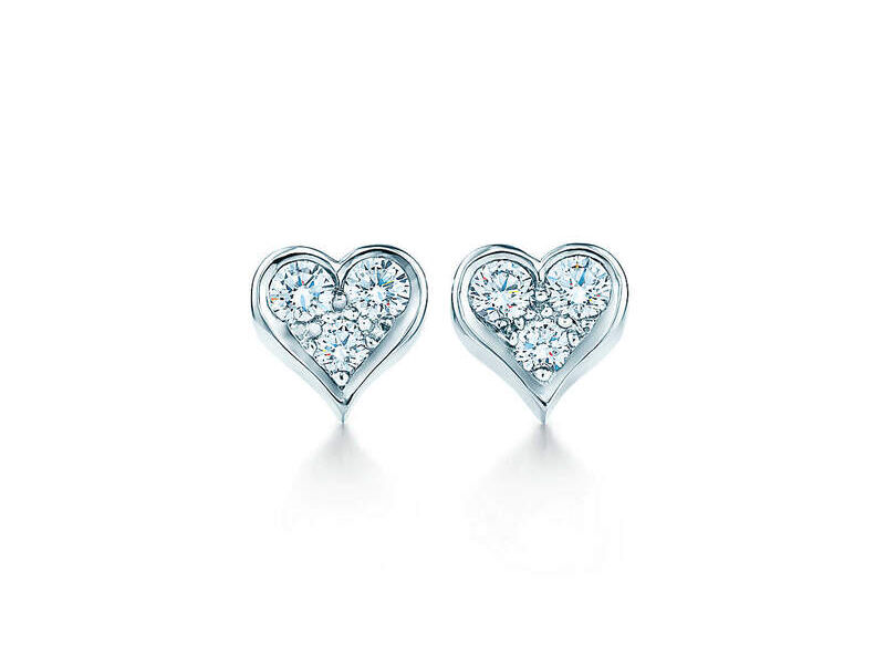 Aretes Diamond Icons Platinum 950PT Heart
