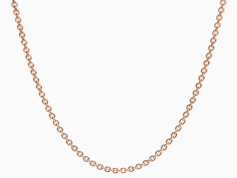 Cadena Tiffany Oro Rosa 18k-16