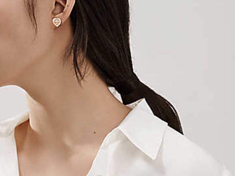 Aretes Return To Tiffany Heart Oro Rosa 18k