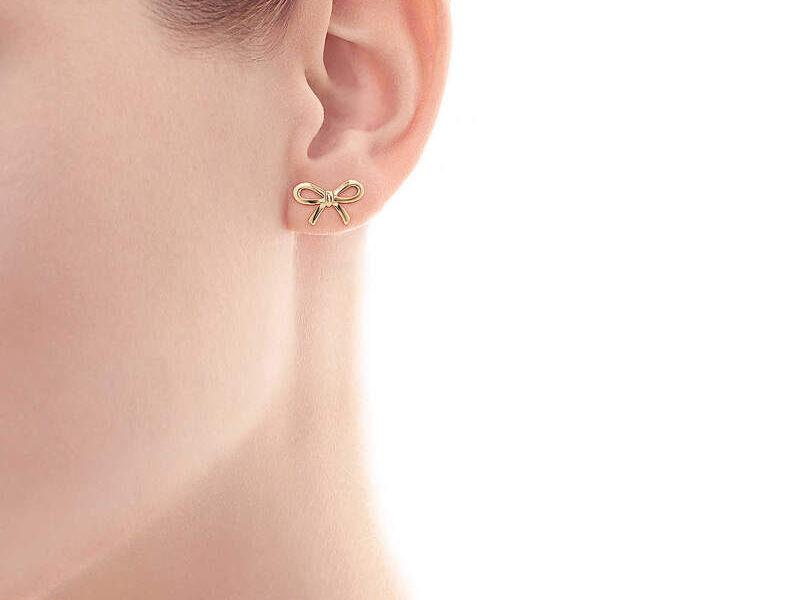 Aretes Tiffany Bow Oro 18k
