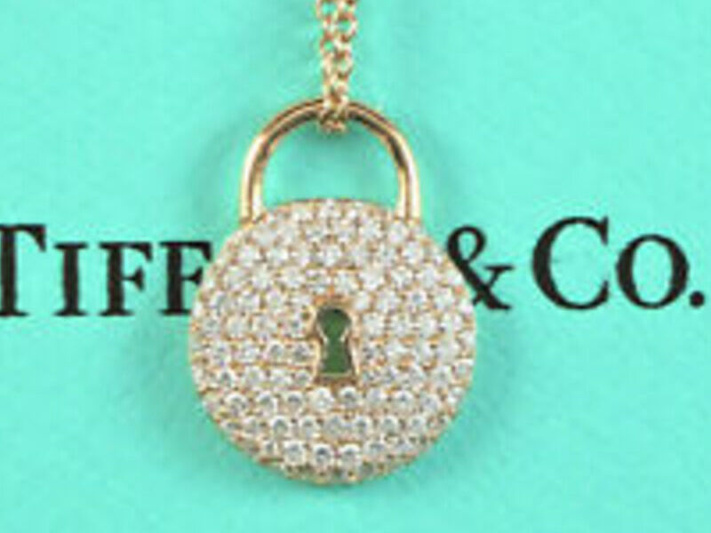 Cadena Tiffany Locks diamantes 18K oro rosa