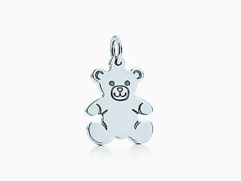 Charm Tiffany Teddy Bear Plata esterlina
