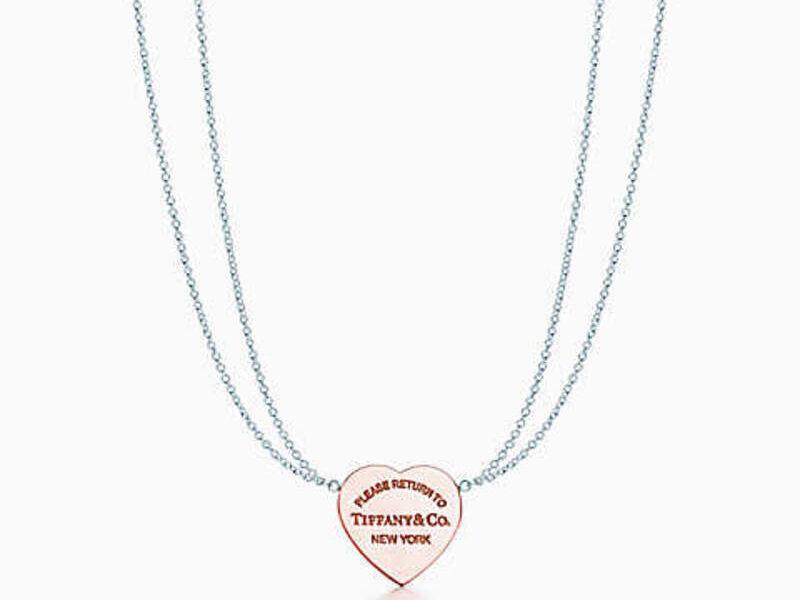 Collar Return To Tiffany Heart Plata y rubedo