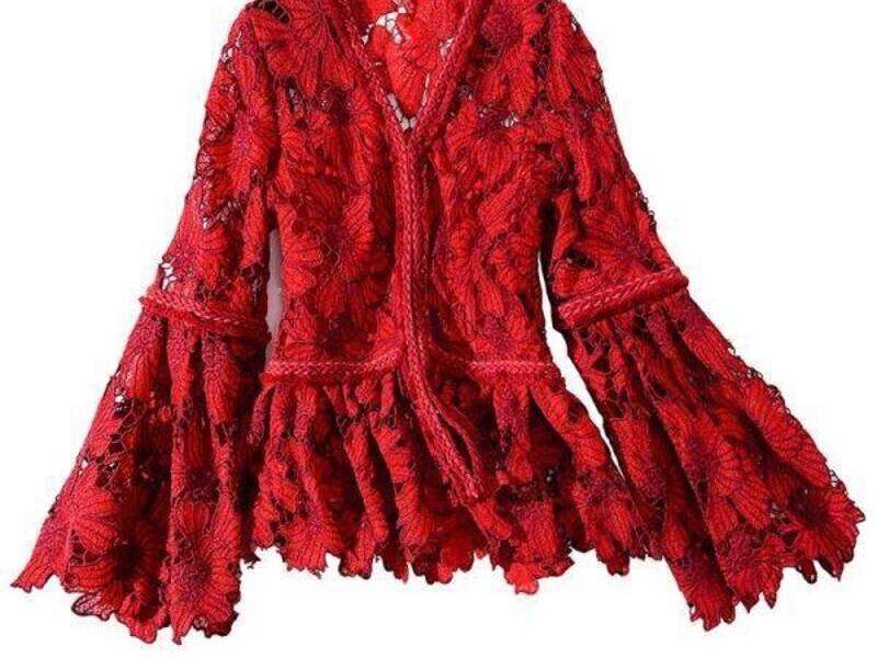 Blusa Roja de Diseño Exclusivo