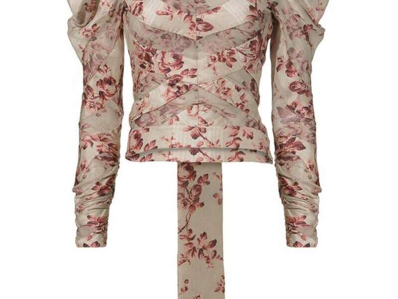 Blusa Rosa de Diseño Exclusivo con Cola