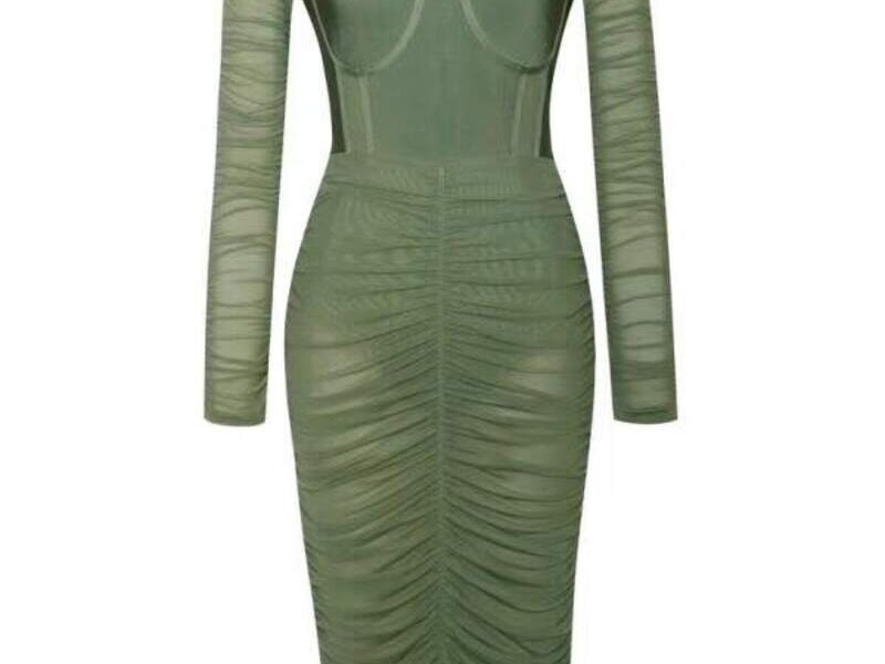 Vestido Verde Diseño Exclusivo