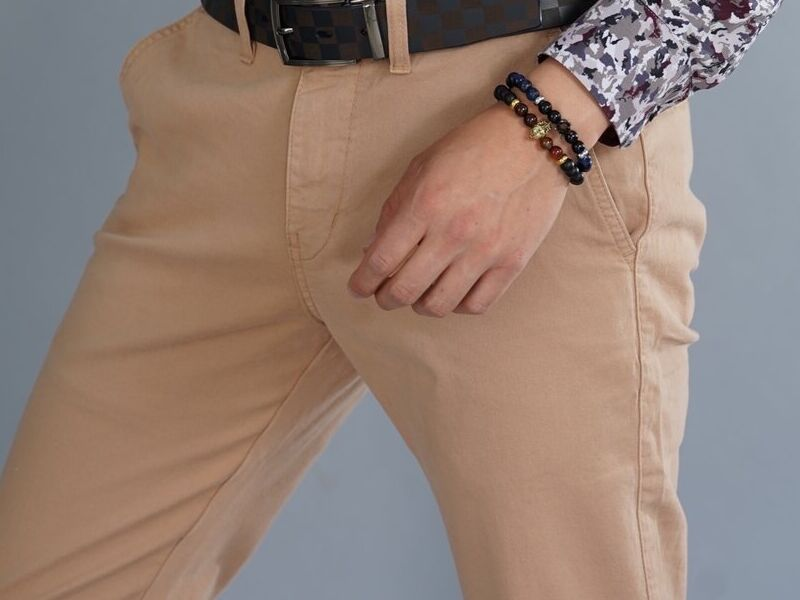 Pantalón de Gabardina Slim