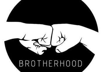 Hoodie Blanco con diseño de Botella de Vino - Brotherhood