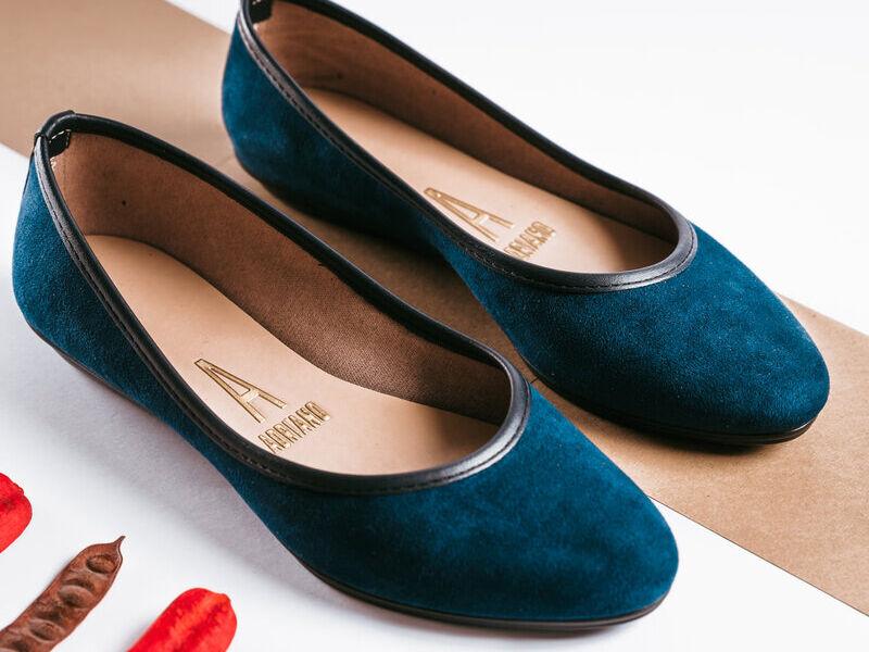 Zapatillas Azul Gamuza