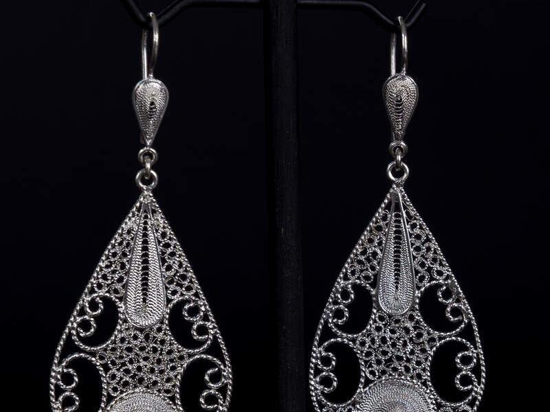 Aretes en plata diseño exclusivo