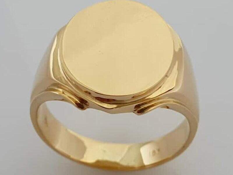 Anillo de oro de 18 klts circular