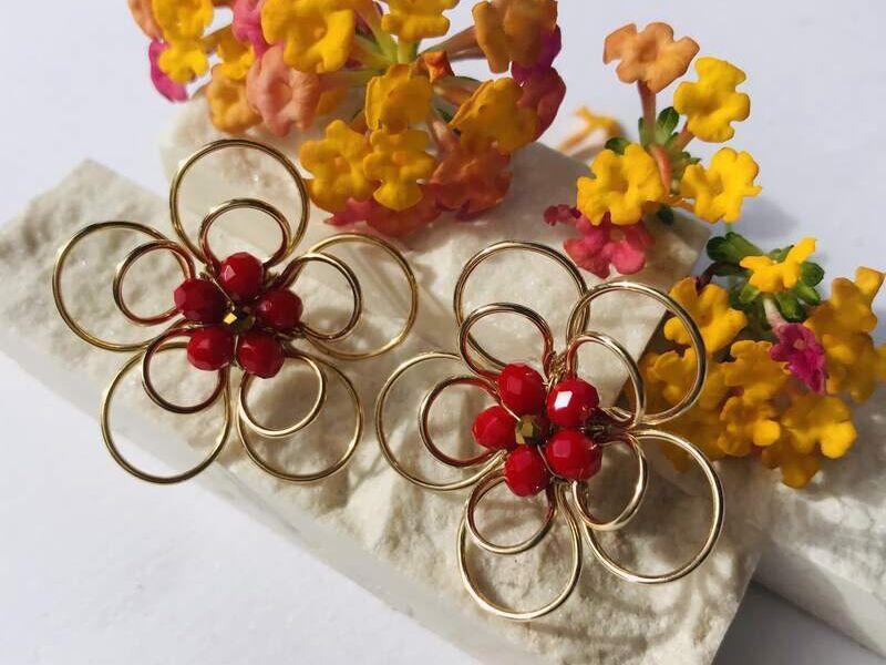 Aretes doble flor