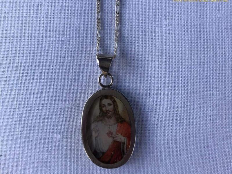 Medalla de plata Sagrado Corazón de Jesús